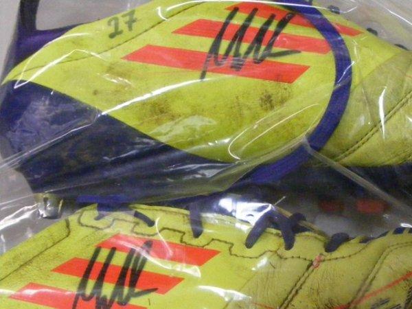 画像4: ニュルンベルク11/12 マルクス・メンドラー スパイク 選手実使用 直筆サイン入り