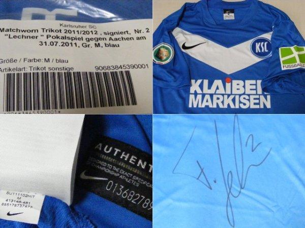 画像3: カールスルーエ 2011/12 DFB-Pokal ホーム ユニフォーム フロリアン・レヒナー 選手実使用 直筆サイン入り Mサイズ nike