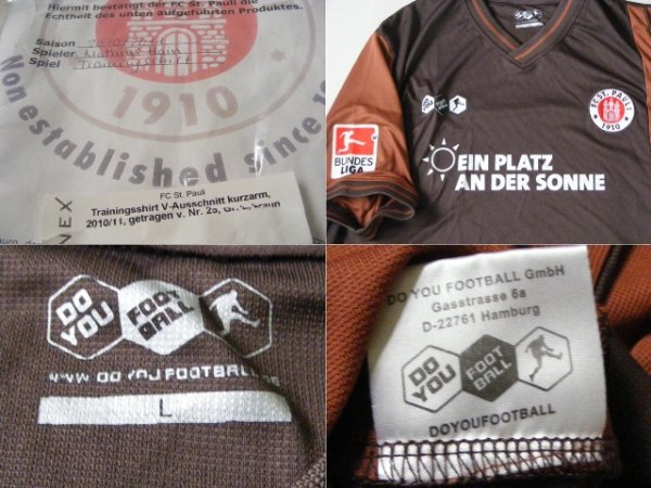 画像3: ザンクトパウリ 2010/11#25 トレーニングシャツ マティアス・ハイン 選手実使用 Lサイズ DO YOU FOOTBALL