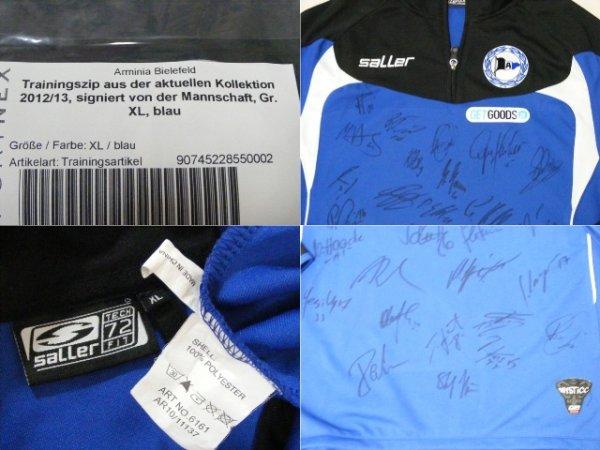 画像3: アルミニア・ビーレフェルト 2012/13 トレーニングZIP 直筆サイン入り 選手実支給品 XLサイズ saller