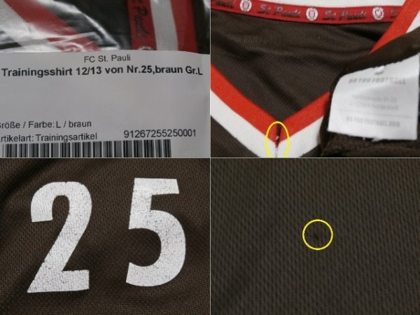 画像4: ザンクトパウリ12/13ケヴィン・シンドラー トレーニングシャツ 選手実使用 L DO YOU FOOTBALL
