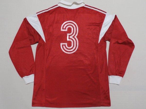 画像2: バイエルン・ミュンヘン90(H)#3(ハンス・ プフリュグラー) Xerox Super Soccer ユニフォーム 直筆サイン入り 選手実支給品 O adidas