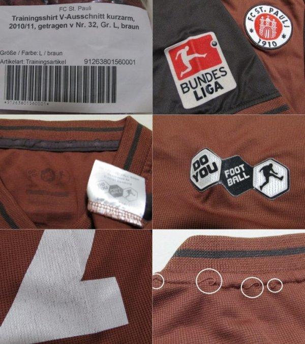 画像4: ザンクトパウリ10/11#32ドロボ・アンペン トレーニングシャツ 選手実使用 クラブ証明書付き L DO YOU FOOTBALL