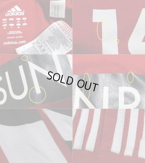 画像4: レバークーゼン12/13#14(細貝萌) トレーニングシャツ 選手支給品 L adidas