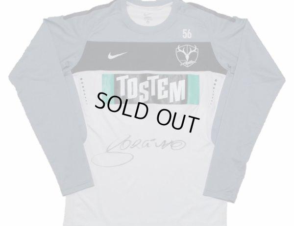 画像1: 鹿島アントラーズ トレーニングシャツ #56 スタッフ支給品 ジョルジーニョ監督直筆サイン入り L nike