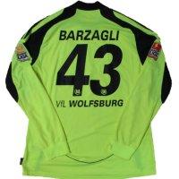 ヴォルフスブルク 2009/10 サード ユニフォーム アンドレア・バルザーリ 選手実使用 XLサイズ adidas