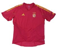 スペイン代表 2004/05 ホーム ユニフォーム 市販選手用(オーセンティック) L?サイズ adidas