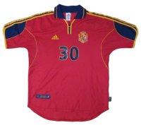 スペイン代表 1999/01 ホーム ユニフォーム  #30 Mサイズ adidas