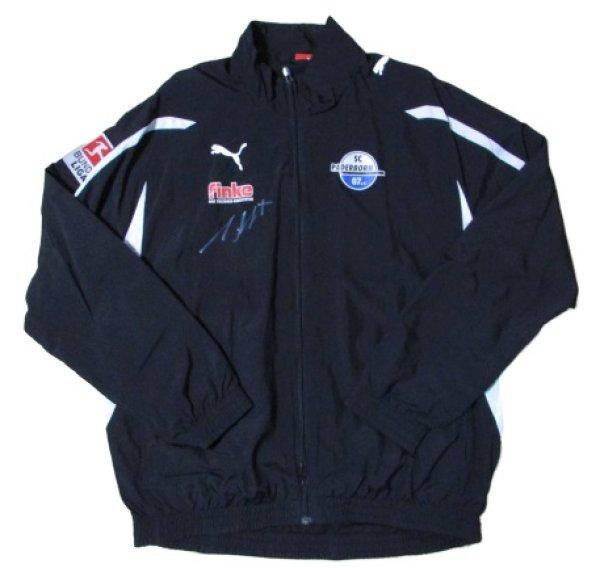 画像1: パーダーボルン 2010/11 トレーニングジャケット アンドレ・シューベルト監督実使用 直筆サイン入り Lサイズ puma