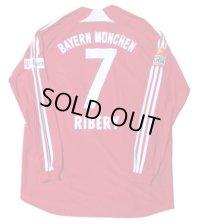 バイエルン・ミュンヘン 2008/09 ホーム ユニフォーム フランク・リベリー 直筆サイン入り 選手支給品 XLサイズ adidas