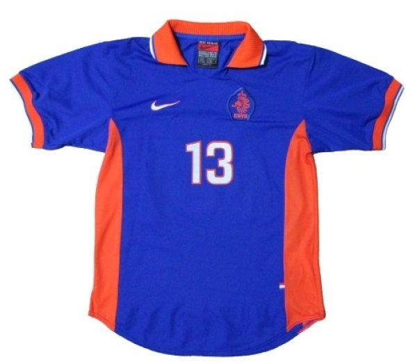 画像1: オランダ代表 1997/98 アウェイ ユニフォーム #13  選手用ストック放出品 Mサイズ nike