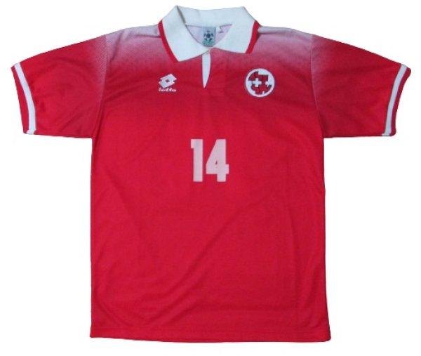 画像2: スイス代表 1996/98 ホーム ユニフォーム クビライ・トゥルキルマズ 選手支給品 Lサイズ lotto