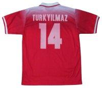 スイス代表 1996/98 ホーム ユニフォーム クビライ・トゥルキルマズ 選手支給品 Lサイズ lotto