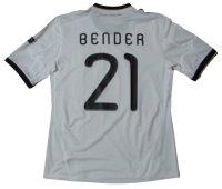 ドイツ代表 2010/11 ホーム ユニフォーム ラース・ベンダー 選手支給品 Lサイズ adidas