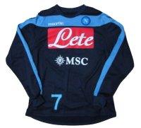 ナポリ 2012/13 トレーニングプルオーバー #7 エディンソン・カバーニ 選手実使用品 Mサイズ macron