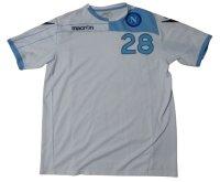 ナポリ 2011/12 CL用 トレーニングシャツ パオロ・カンナヴァーロ 選手実使用品 XLサイズ macron